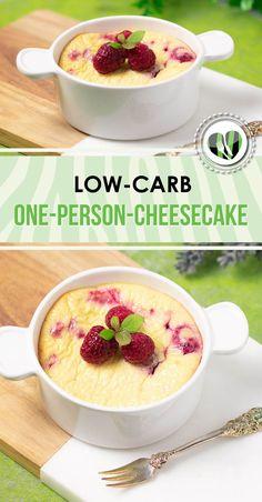Der One-Person-Cheesecake ist lecker Low Carb glutenfrei und zuckerfrei. The post Der One-Person-Cheesecake ist lecker Low Carb glutenfrei und zuckerfrei. Low Carb Dinner Recipes, Low Carb Desserts, Keto Recipes, Snack Recipes, Dessert Recipes, Muffin Recipes, Pasta Recipes, Cooking Recipes, Low Fat Low Carb