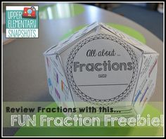 All About Fractions - a FREE dodecahedron project 4th Grade Fractions, Teaching Fractions, Fifth Grade Math, Teaching Math, Fourth Grade, Teaching Ideas, Fractions Year 3, Decimal Multiplication, Grade 3