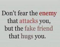 enemies vs fake friends