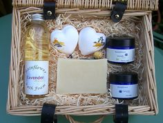 Bath & Body Wicker Hamper Gift. Essential oils. by RainflowerKent
