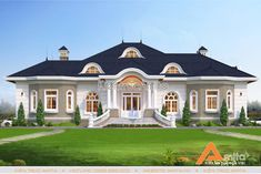 Luxury Homes Dream Houses, Luxury House Plans, Dream House Plans, Classic House Design, Bungalow House Design, Country Home Exteriors, Model House Plan, Kerala House Design, Family House Plans