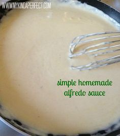 Simple Alfredo sauce ( no cream cheese)