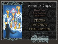 THE Seven of Cups TAROT CARD MEANINGS - UPRIGHT& REVERSED! The Seven of Cups Tarot includes LOVE, NUMEROLOGY, & SYMBOLS for more accurate TAROT READING.