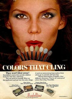 Retro Makeup Vintage Eye Shadow ad from the - From Seventeen, September 1978 Vintage Makeup Ads, Retro Makeup, Vintage Beauty, Vintage Ads, Vintage Fashion, Vintage Cameras, Vintage Stuff, Vintage Posters, Vintage Designs