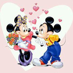 Mickey 'n Minnie so cute.