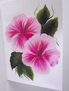 Hand Painted Hibiscus Greeting Card by KarenUnderwoodArt on Etsy, £4.00