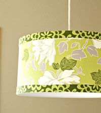 Fabric Covered Lamp shade {tutorial}