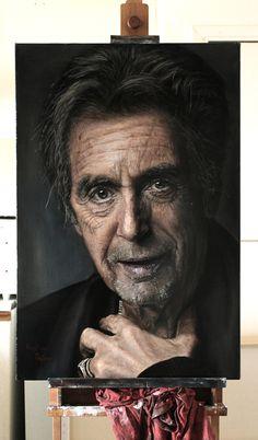 Al Pacino 24''x36'' acrylic on canvas https://www.facebook.com/KrystianPajorArt/ https://twitter.com/PajorART https://www.instagram.com/krystianpajorart/