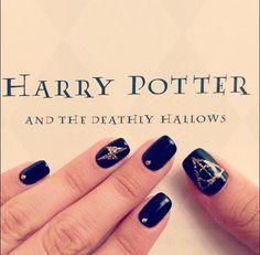 Amazing Harry Potter Nails - Likes Nail Art Harry Potter, Harry Potter Nails Designs, Cute Nails, Pretty Nails, Diy Acrylic Nails, Long Lasting Nail Polish, Nail Photos, Halloween Nails, Manicure And Pedicure