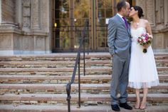 The Loveliest Day: Lauren + Chris' Mills College Wedding... the steps of the music hall