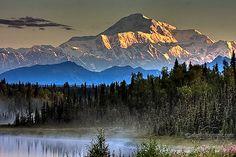 Denali National Park and Preserve, Alaska Wonderful Places, Beautiful Places, Beautiful Scenery, Alaska Travel, Alaska Trip, Imagines, Canada, Beautiful Landscapes, Beautiful Paintings