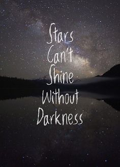 Be the brightest star in a sea of darkness