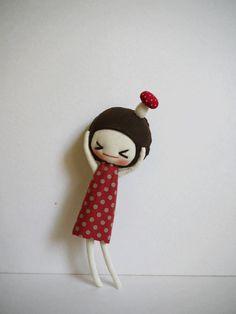 Ah! There's a mushroom on my head XoX super cute toadstool doll fairy plushie