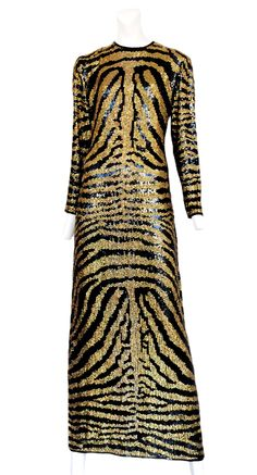 Halston Zebra Print Dress