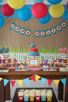 Gallina pintadita Boy First Birthday, Birthday Bash, It's Your Birthday, Carnival Birthday Parties, Circus Party, Candy Bar Party, Fiestas Party, Barn Parties, Birthday Photos
