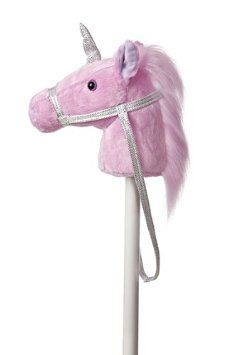 "Aurora World World Giddy-Up Fantasy Stick Horse 37"" Plush, Unicorn"