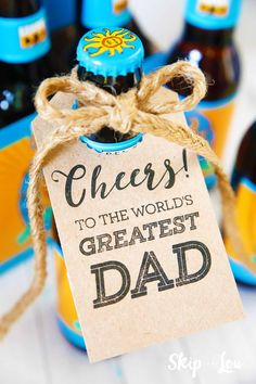 DIY Gifts : Fathers day printable bottle tags will bring a smile to your dads face and help First Fathers Day, Dad Day, Happy Fathers Day, Father Sday, Diy Father's Day Gifts, Father's Day Diy, Gifts For Dad, Grandpa Gifts, Grandparents Day Crafts
