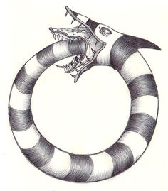 I'm sure this has been done before, but here's a Sandworm Ouroboros (or one of those things I think of right before I fall alseep).