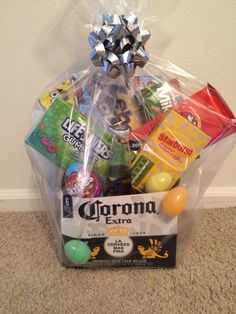 Adult easter basket fav holidays pinterest easter baskets easter basket for my husband negle Images