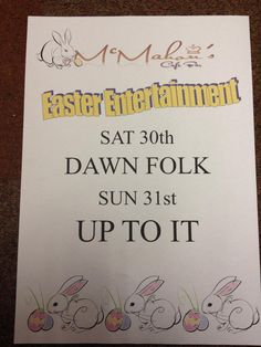 Easter Entertainment at McMahon's Cafe Bar, Kingscourt Co.