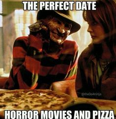 horror movies and pizza 30 seriously funny halloween memes - la Funny Halloween Memes, Halloween Horror, Funny Memes, Funny Halloween Pictures, Happy Halloween, Scream Halloween, Halloween Quotes, Funny Shit, Funny Stuff