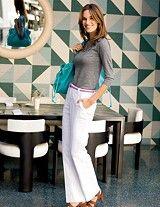 Flared Cotton Trousers - teacher wardrobe ideas