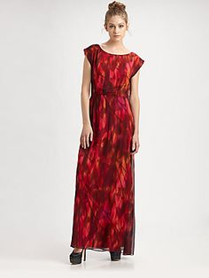Alice + Olivia Rosalie Cutout Maxi Dress