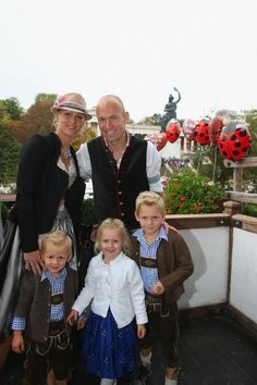 Arjen Robben and his family.