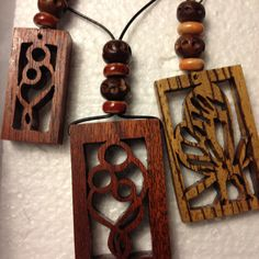 Unity and Butterfly wooden jewelry