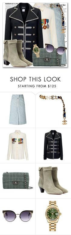 """""""Military 1.10"""" by rosalol ❤ liked on Polyvore featuring Isabel Marant, Chanel, Stella Jean, Jimmy Choo and Rolex"""