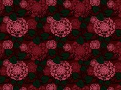 """Undisturbed"" by Aggamer55Lamb floral, flower, flowers, pattern, red, sleep, vine"