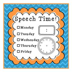 Just fill out and attach to student desks. They really help students remember when to come to speech.and even with the ones who try to come every single day! :) This really helps my tight schedule run fairly smoothly. Speech Language Therapy, Speech Language Pathology, Speech And Language, Professor, Speech Therapy Activities, Speech Therapy Organization, Articulation Activities, Language School, Speech Room