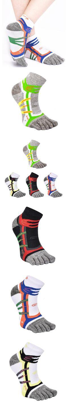 1 Pair Man Middle Tube Warm Cotton Five Finger Toe Striped Men's Sock Casual Hot Sale Fashion Miesten sukat 2 #DD