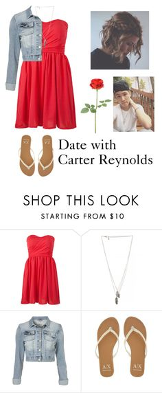 """Date with Carter Reynolds"" by seems99 ❤ liked on Polyvore featuring DailyLook and Armani Exchange"