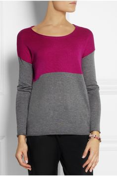 Splendid|Two-tone knitted sweater
