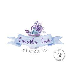 Lavanda flor insignia Logo-insignia por JupiterStreetDesigns
