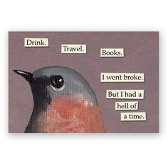 Drink Travel Books Magnet Bird Humor Gift Stocking Stuffer Mincing... ($4.50) ❤ liked on Polyvore featuring home, home decor, black, home & living, kitchen & dining, kitchen décor, refrigerator magnets, metal home decor, bird home decor and black home decor