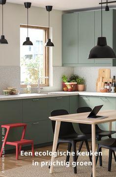 Kruidentuin, discrete compost of mengkraan: dit jaar kleurt onze keuken groen! #IKEABE #IKEAIdee Diy Kitchen Decor, Home Reno, Spanish Style, Sweet Home, Interior Design, House Styles, Styling Tips, Table, Furniture