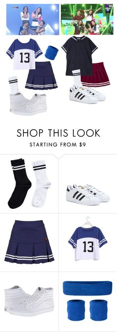"""""""Red Velvet - Happiness"""" by snsdkawaii ❤ liked on Polyvore featuring Pieces, adidas, Topshop and Vans"""