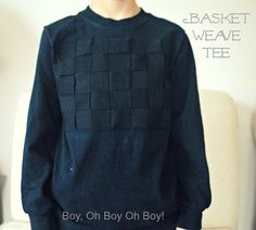 Basket Weave T-shirt (a mini tutorial)