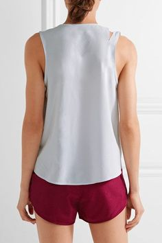 Nike - Flex Training Perforated Dri-fit Stretch Tank - Light gray - x small