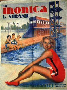Retro Art, Retro Vintage, Beautiful Beaches, Beautiful Day, Vintage Beach Posters, Love Posters, Travel Brochure, Poster Ads, Beaches In The World