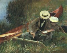 John Singer Sargent (1856–1925) - Paul Helleu sketching with his Wife, 1889