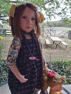 My own photo of my new Zwergnase Roberta doll.