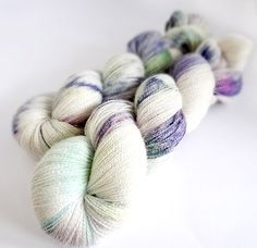 Lace Weight Yarn Baby Alpaca/Silk Handdyed Yarn: by WrenAndOllie