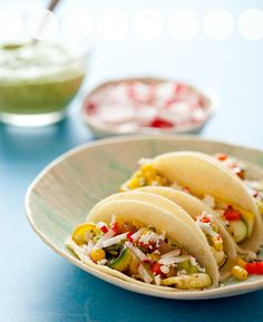 Grilled Zucchini Tacos recipe from Spoon Fork Bacon blog. #zucchini #tacos