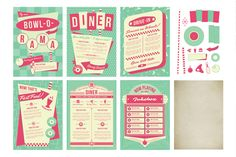 Epic 1950s Retro Bundle by Wing's Art and Design on Creative Market