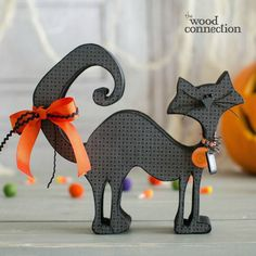 The Wood Connection is Utah's original unfinished wood crafts store. Shop our online selection of DIY wood projects! Halloween Wood Crafts, Cat Crafts, Halloween Cat, Holidays Halloween, Holiday Crafts, Holiday Fun, Halloween Decorations, Halloween Season, Wood Craft Patterns