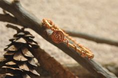 WireWrapped Bangle by WearableArtByAbrilla on Etsy, $45.00