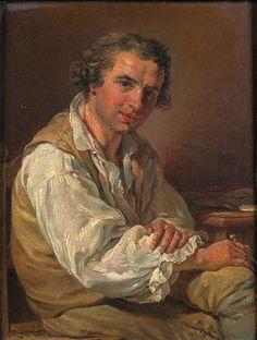 François-André Vincent - Ritratto di architetto nel suo atélier
